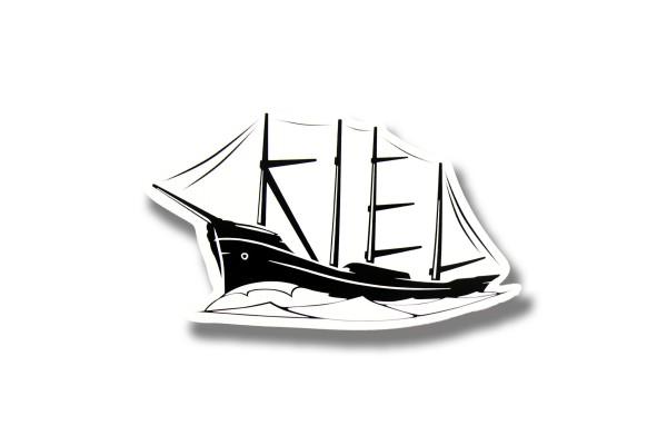 Kielschiff Aufkleber